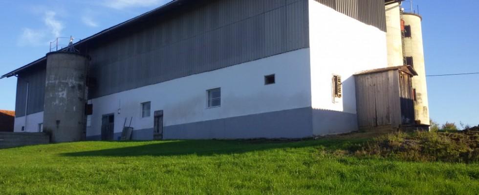 Landwirtschaft mit großem Wirtschaftsgebäude und circa 8 Hektar Grund und Neubaumöglichkeit!