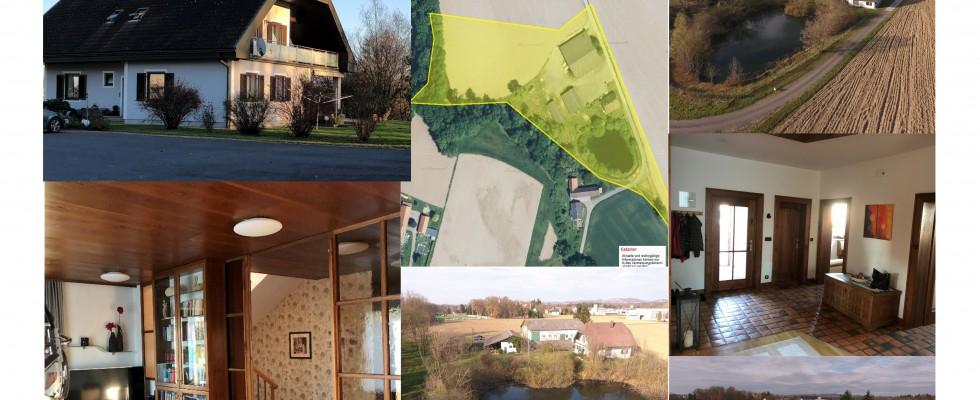 Südsteiermark Landhaus mit Naturbadesee und großer Lagerhalle